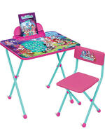 """Купить Комплект детской складной мебели для детей от 3 до 7 лет с раскраской """"Enchantimals"""" id181225205"""