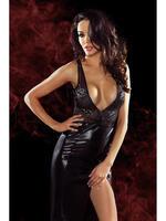 Длинное чёрное платье с глубоким декольте и вырезом на спине Jacqueline id2004541918