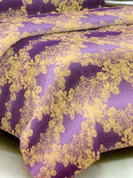 Красивое и оригинальное Покрывало фиолето-золотистого цвета id1936372430