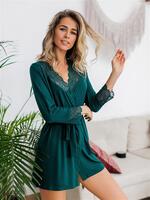 Купить Халат домашний женский зелёного цвета id152868394