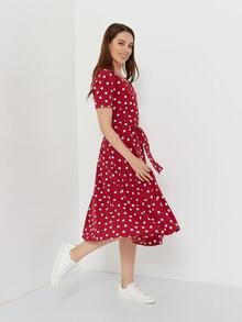 Платье в горошек красного цвета Україна, -Харкiв id1268604837