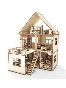"""Купить Кукольный домик ХэппиДом """"Коттедж c пристройкой с мебелью для кукол"""" id1197880087"""