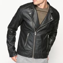 Мужская Куртка в байкерском стиле из искусственной кожи, купить id76037131