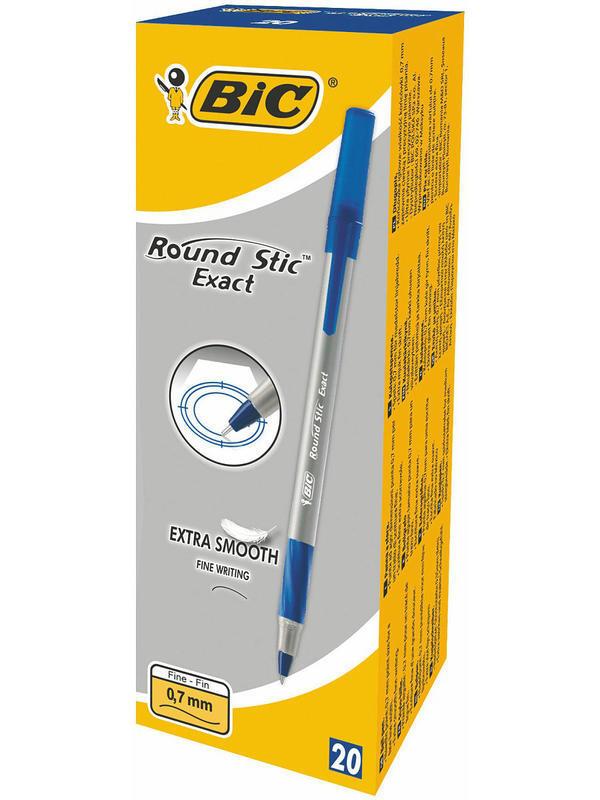 BIC Ручка шариковая Round Stic Exact, синяя, 0,7мм, грип id474210871