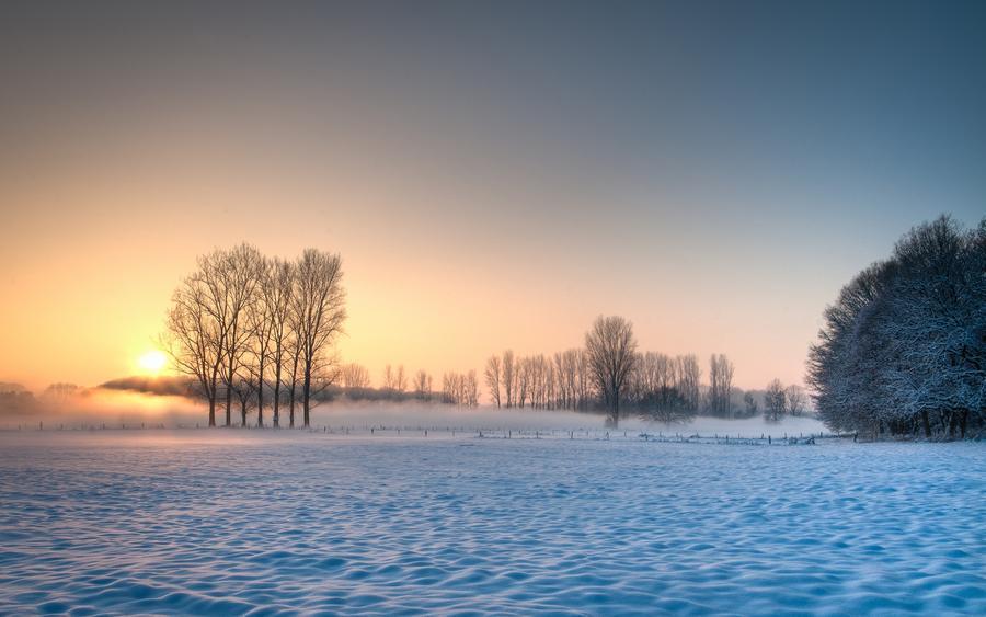 Шпалери чарівних Зимових лісів Природа, Ліс, Зима, Захід сонця, Схід Сонця 1290305468