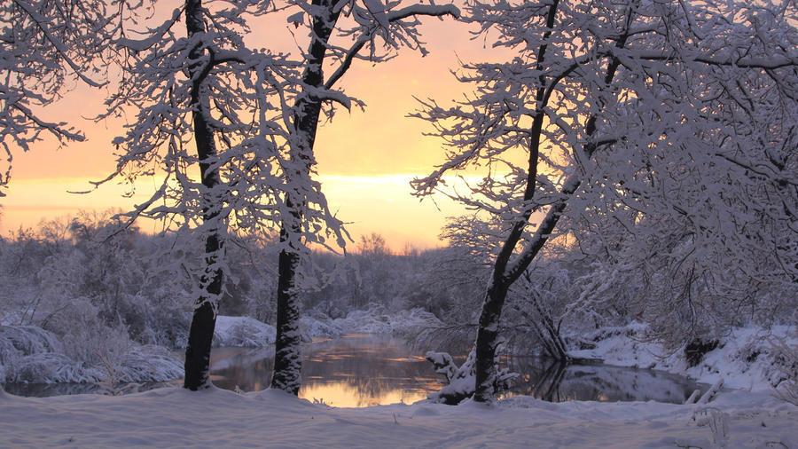 Обои - сказочная Зима - часть 2 Природа, Арт, Зима, Восход, Закат, Лес, Парк, Ночь 1669061640