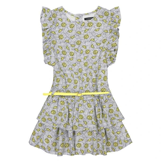 Платье без рукавов с воланами и рисунком, девочкам 5-14 лет id462567237
