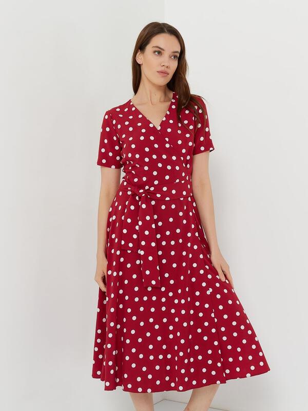 Платье в горошек красного цвета Україна, -Харкiв id1268298422