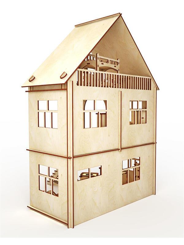 """Купить Кукольный домик ХэппиДом """"Коттедж c пристройкой с мебелью для кукол"""" id1422760151"""