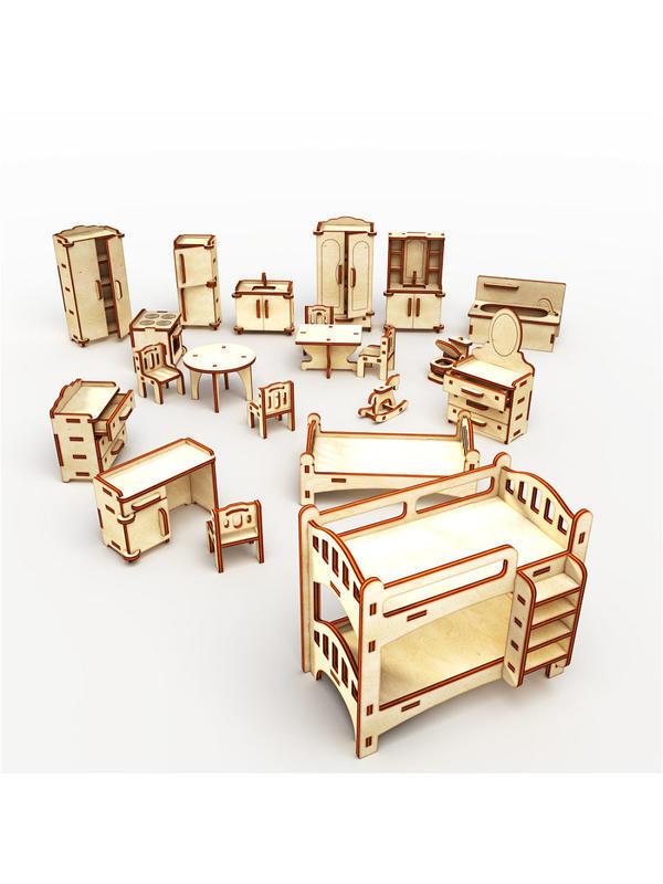 """Купить Кукольный домик ХэппиДом """"Коттедж c пристройкой с мебелью для кукол"""" id1314280638"""