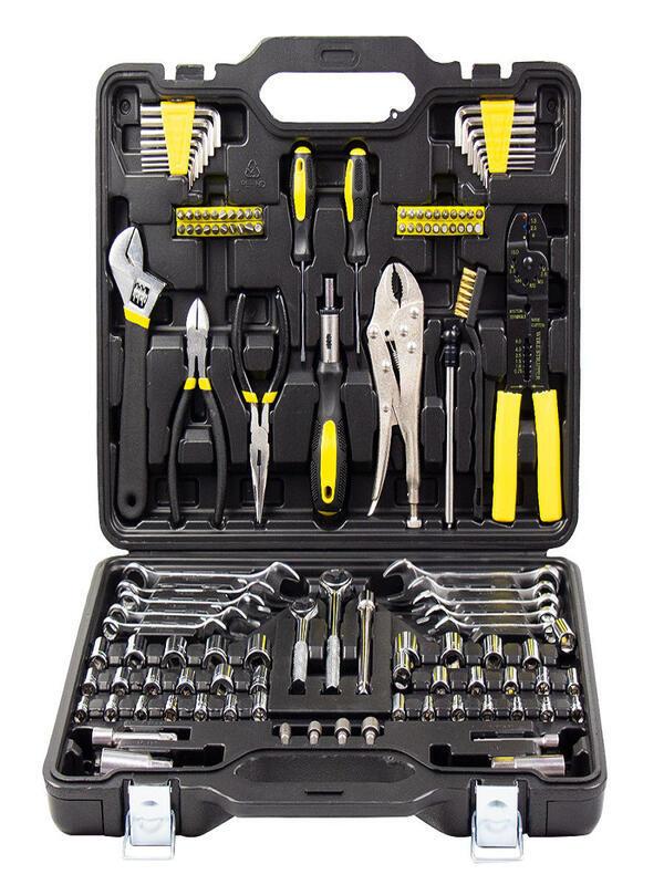Купить недорого Набор ручного инструмента в пластиковом кейсе KTS 123 id208237475