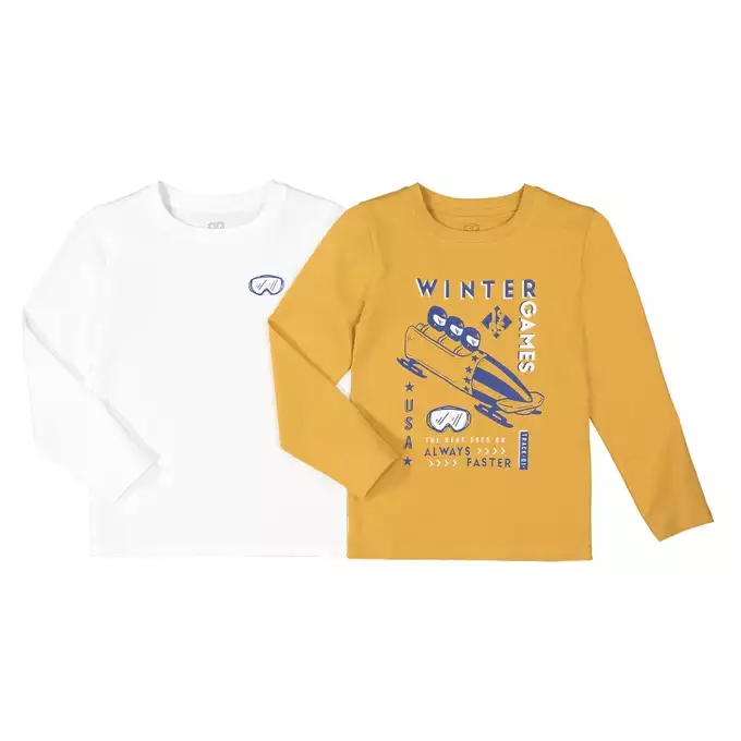 Детский Комплект из 2 футболок с длинными рукавами, 3-12 лет id906668355