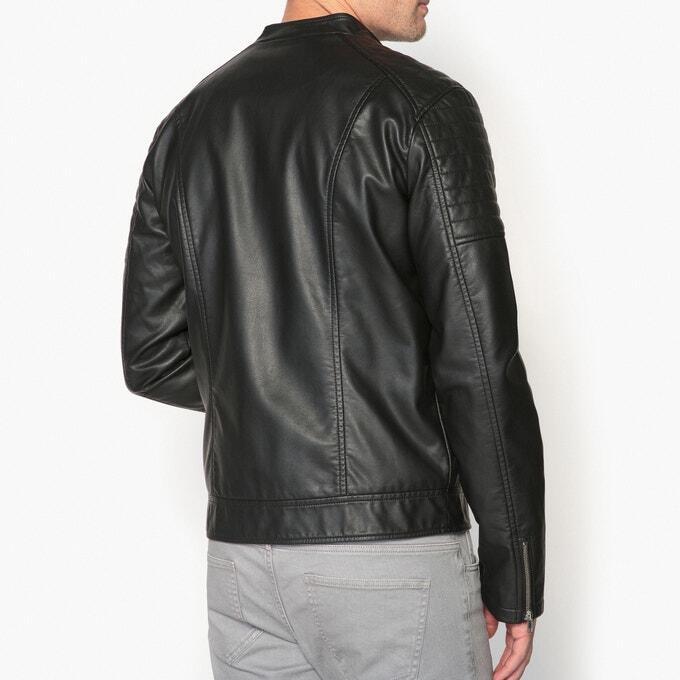 Мужская Куртка в байкерском стиле из искусственной кожи, купить id597920895