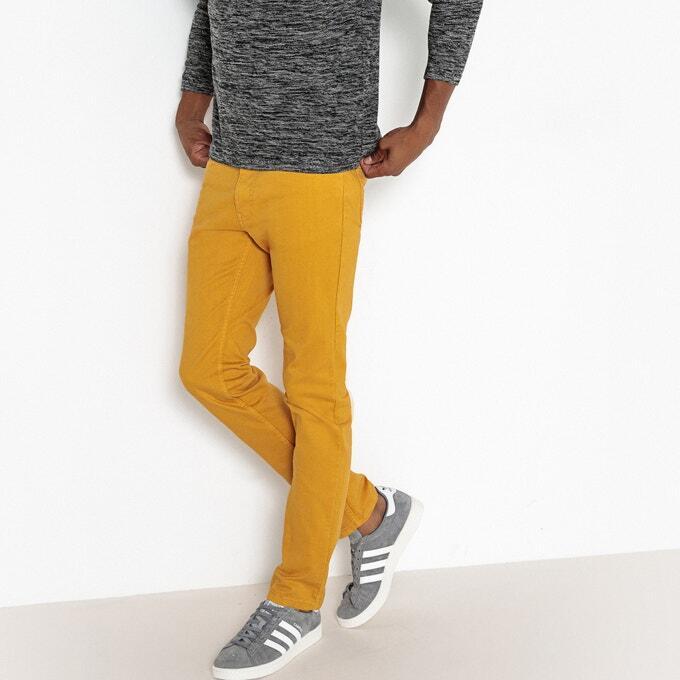 Мужские Джинсы узкие желтый LA REDOUTE COLLECTIONS id1368593832