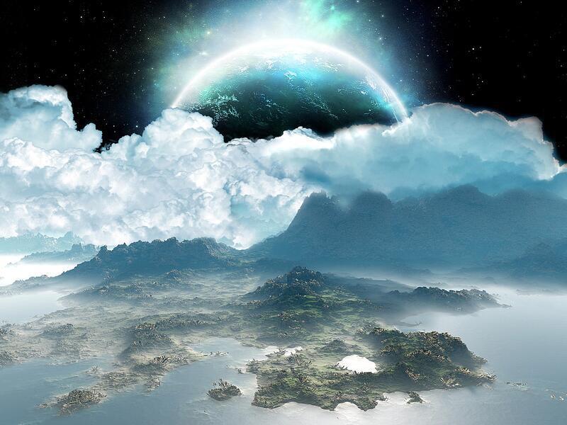 Фантастические Фотообои космической Вселенной Космос, Вселенная, Планеты, Земля, Солнце id1649652242