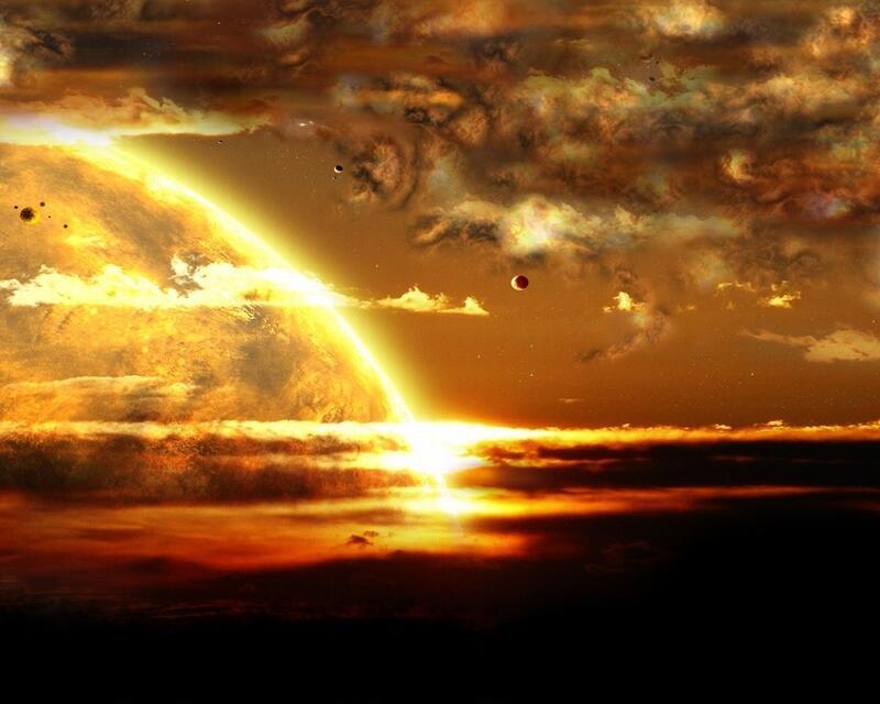 Фантастичні Фотошпалери космічного Всесвіту Космос, Всесвіт, Планети, Земля, Сонце id631699544