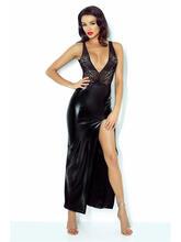 Длинное чёрное платье с глубоким декольте и вырезом на спине Jacqueline id1434425048