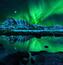 Обои - загадочное Полярное сияние Природа, Лес, Горы, Озера, Полярное сияние id467500499