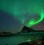 Обои - загадочное Полярное сияние Природа, Лес, Горы, Озера, Полярное сияние id1506224240