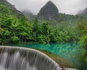 Обои сказочных водопадов Природа, Лес, Водопад, Закат, Восход, Джунгли 1026563088