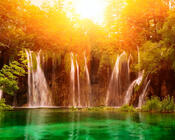 Шпалери казкових водоспадів Природа, Ліс, Водоспади, Захід сонця, Схід Сонця, Джунглі 230251883