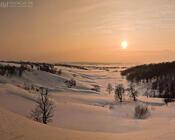 Обои волшебных Зимних лесов Природа, Лес, Зима, Закат, Восход id1969150481