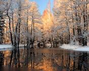 Обои - сказочная Зима - часть 1 Природа, Арт, Зима, Восход, Закат, Лес, Парк, Ночь id34330319