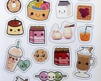 Kawaii Food Sticker Милая Еда Лист Стикеров id1811526711