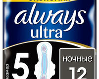 Always Гигиенические прокладки Ночные экстра защита с крылышками, 12 шт. id1783129183